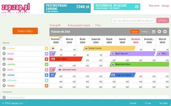 zapizap.pl grafik rezerwacji