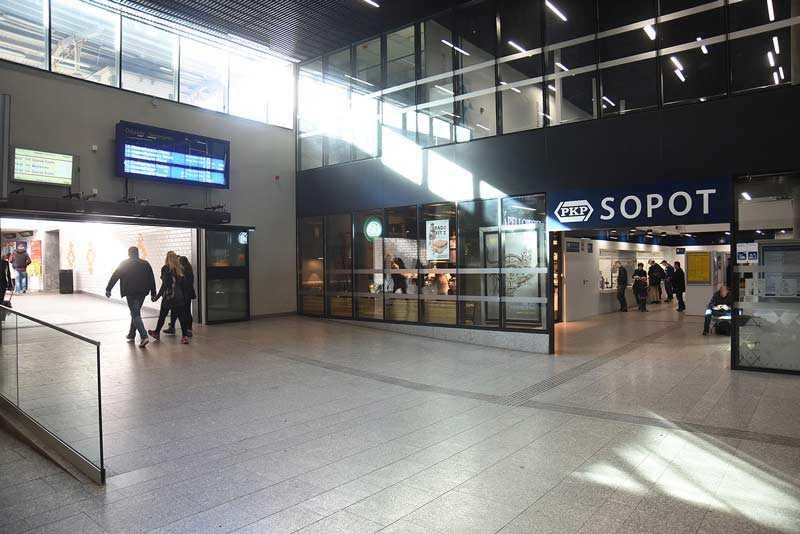 Sopot centrum dworzec pkp kasy